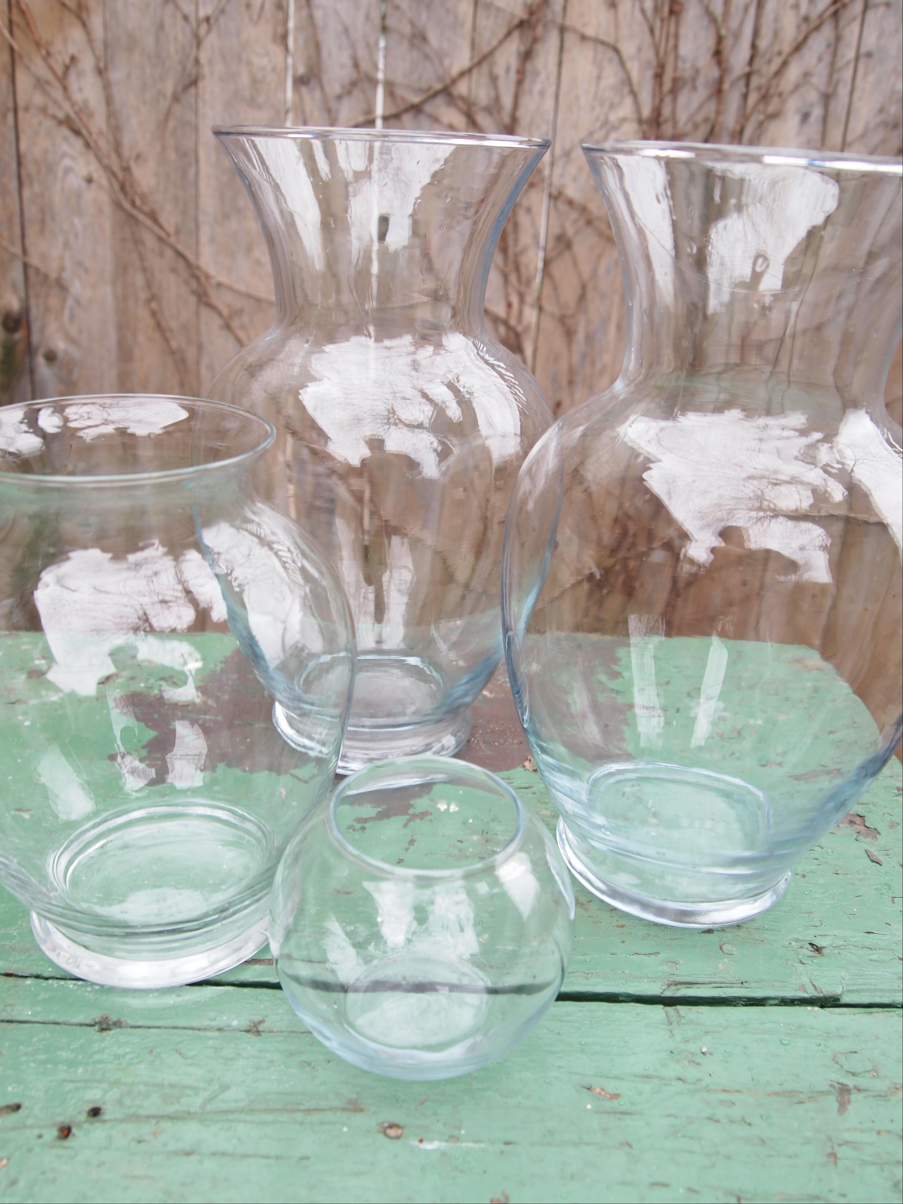 Repurposed Glass Vases