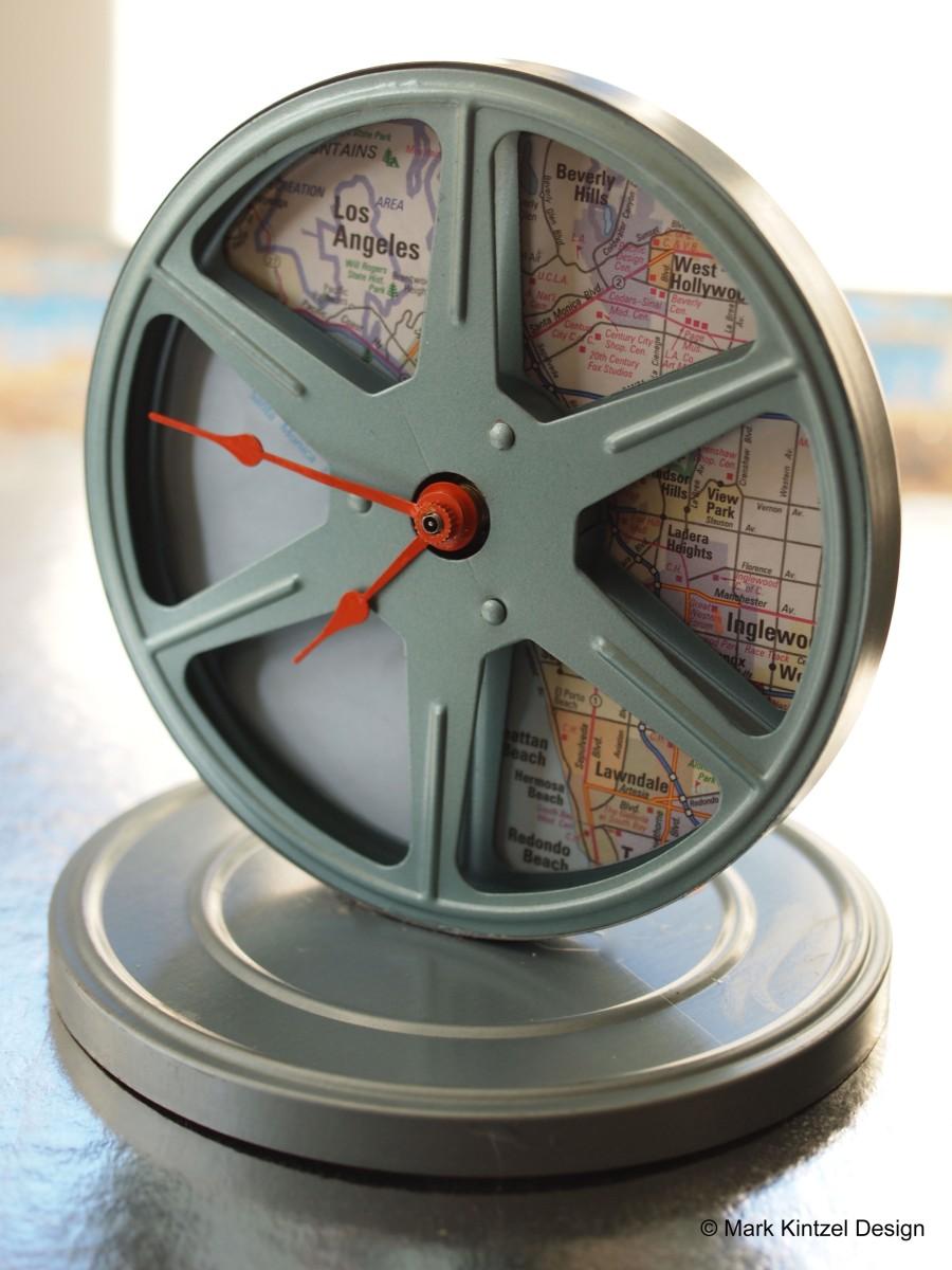 Vintage Film Reel Vintage Film Reel Clock  